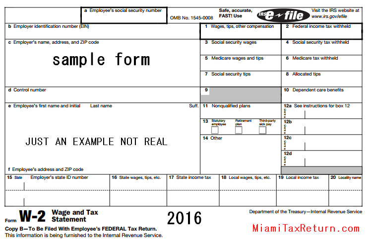 2014 w2 What Does A W-2 Form Look Like? W-2 Tax From Work